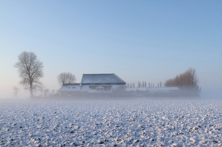 Winter boerderij